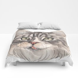 Normie the Cat - artist Ellie Hoult Comforters