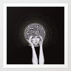 Maze Brain Art Print