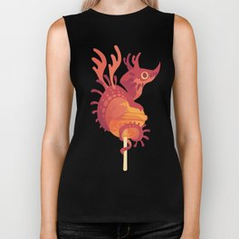 Dragonpop alebrije cherry orange Biker Tank