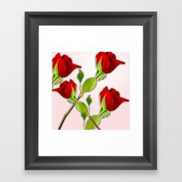 Red Rose For My Valentine Day Framed Art Print