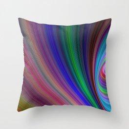 Vivid storm Throw Pillow