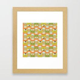 mabo & jimmy garden orange 2 Framed Art Print