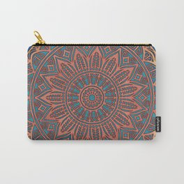 Wooden-Style Mandala Carry-All Pouch
