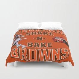 Shake n Bake  Browns Duvet Cover