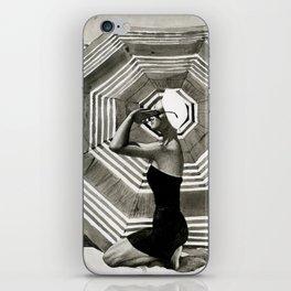 girl on the beach iPhone Skin