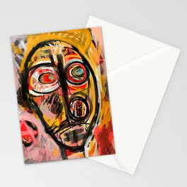 Portrait of an unknown my self Stationery Cards