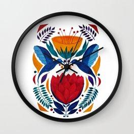 Love birds   Kissing Hummingbirds   Watercolor painting Wall Clock