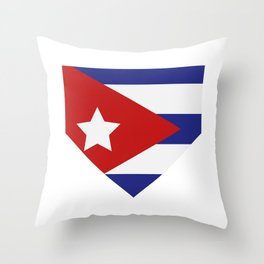 Cuba flag Throw Pillow