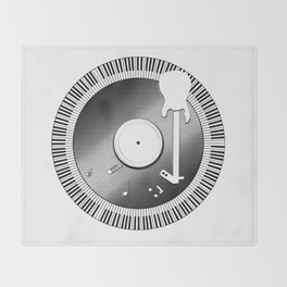 Pay Homage to Music Throw Blanket