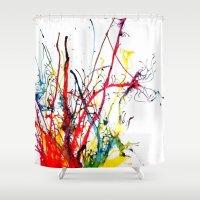 splatter Shower Curtains featuring Splatter by Lucia C