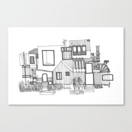 Black and White Home Canvas Print