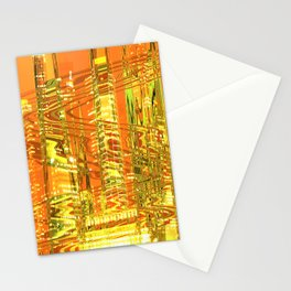 A waved skyscraper Stationery Cards
