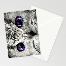 Galaxy Owl Eyes Stationery Cards