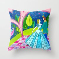 cinderella Throw Pillows featuring Cinderella by Sandra Nascimento