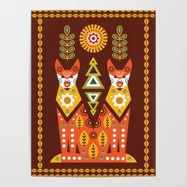 Scandinavian Floral Patterns  Poster