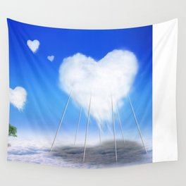 When I feel love, I' d be above the clouds Wall Tapestry