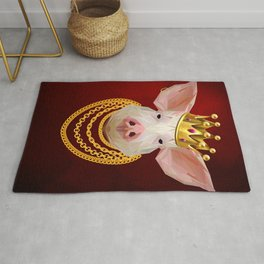 The King of Pigs Rug