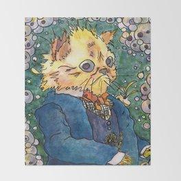 Walter Potter Cat Throw Blanket
