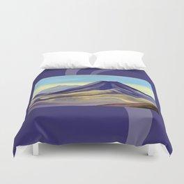 Mount Ngauruhoe Duvet Cover