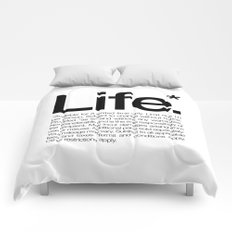 Life.* Available for a limited time only. (White) Comforters