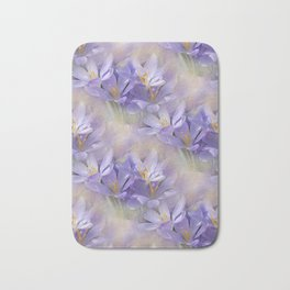 flowers -3- seamless pattern Bath Mat