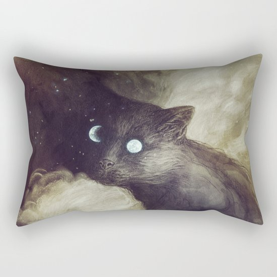 The Cat and the moon Rectangular Pillow