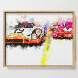 Le Mans Chase Serving Tray