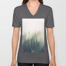 My Peacful Misty Forest II Unisex V-Ausschnitt
