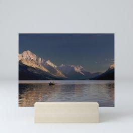 Sunset Over Waterton Lakes National Park Mini Art Print