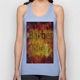 Barber Shop Sign Unisex Tank Top
