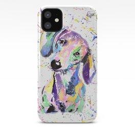rainbow dog dachshund iPhone Case