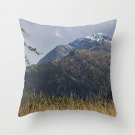 Alpine Mountain Landscape Throw Pillow