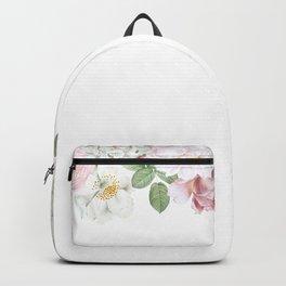 Vintage & Shabby Chic - Blush Antique Roses Frame Backpack