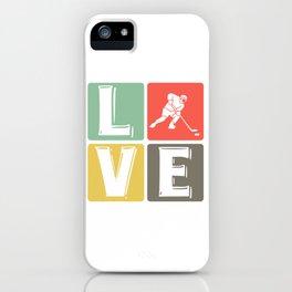 Hockey love hockey player hockey iPhone Case