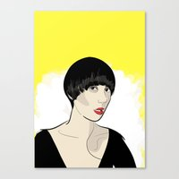 karen hallion Canvas Prints featuring Karen Ooo by Nicky Phillips