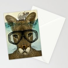 Skuba Roo and a white mouse Stationery Cards