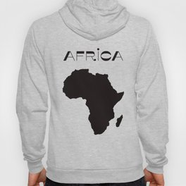 Map of Africa 70s Style Modern Minimalist Africa Map Ethnic Black and White Afrocentric Decor Hoody