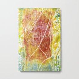 Abstract Rainforest Vines Metal Print