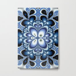 Fractality Of Blue Fractal Art Print Metal Print