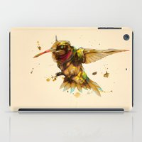 android iPad Cases featuring android hummingbird by Kingu Omega