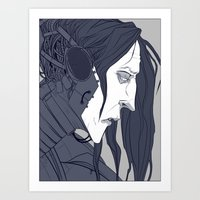 cage Art Prints featuring CAGE by AJM_