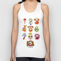 muppet Tank Tops featuring Muppet Babies Numbers by Mike Boon