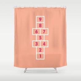 Hopscotch Pink Shower Curtain