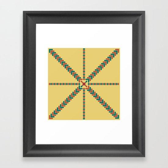 X Marks the Center Framed Art Print