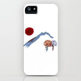 Mountain trees watercolor iPhone Case