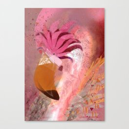 Galaxy Flamingo Canvas Print