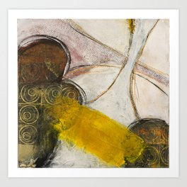 Still Life with Yellow Strip Art Print