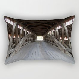 Inside A Covered Bridge Rectangular Pillow
