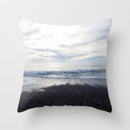 Rodeo Beach with Killer Clouds Throw Pillow
