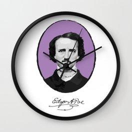 Authors - Edgar Allan Poe Wall Clock